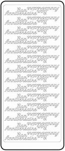 Peel-Off's stickervel Franse tekst 4601 Bon Anniversaire