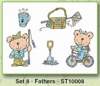 Clear stamps Card Deco Stampies ST10008 Stampies Fathers
