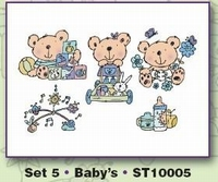 Clear stamps Card Deco Stampies ST10005 Stampies Baby's
