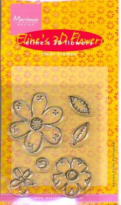 MD Clear stamps EC0087 Eline's 3D Flowers