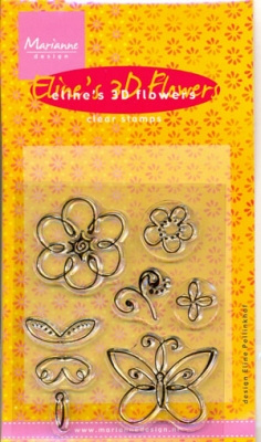 MD Clear stamps EC0090 Eline's 3D Flowers