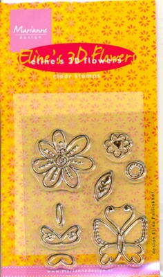 MD Clear stamps EC0089 Eline's 3D Flowers
