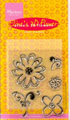 MD Clear stamps EC0088 Eline's 3D Flowers