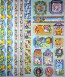 Joy! Embossed Glitter Sticker 6013-0025 Pasen