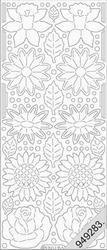 Stickervel Starform Transparant Glitter 7017 Bloemen