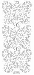 Stickervel Starform Transparant Glitter 7005 Vlinder