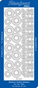Stickervel Starform 1065 Bloemen