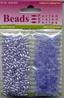 Hobby & Crafting duo Oval Beads Pearl & Gloss 10 blue/blauw