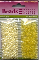 Hobby & Crafting duo Oval Beads Pearl & Gloss 04 yellow/geel