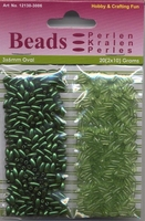 Hobby & Crafting duo Oval Beads Pearl & Gloss 06 green/groen